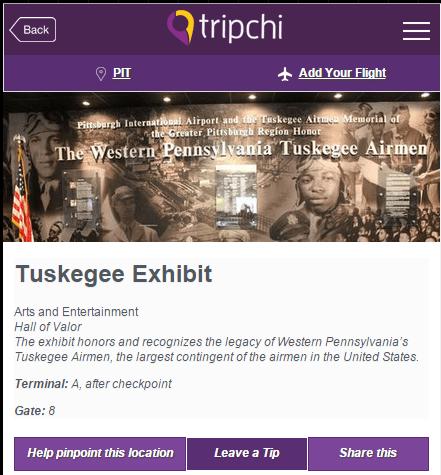 PIT Airport - Tuskegee Airmen Exhibit