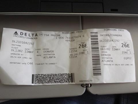 Delta 1382 Boarding Pass