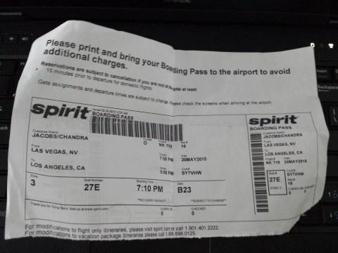 Spirit 719 Boarding Pass