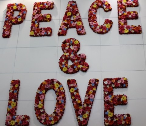 MIA Airport Art - Peace & Love