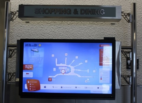 """MIA Airport """"Interactive"""" touch screens"""