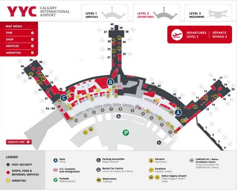 Calgary Airport Departures