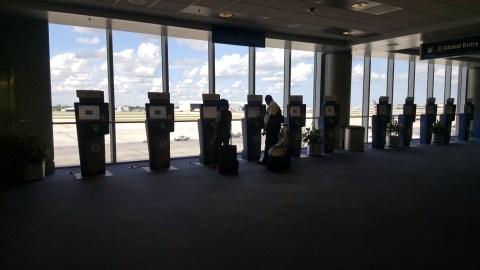 Global Entry MIA Airport immigration kiosks