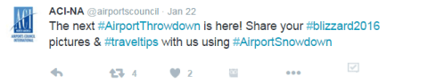 #AirportThrowdown