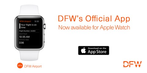 iWatch app at DFW - great for the long layover