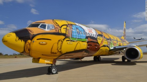 GOL - World Cup themed aircraft paint jobs