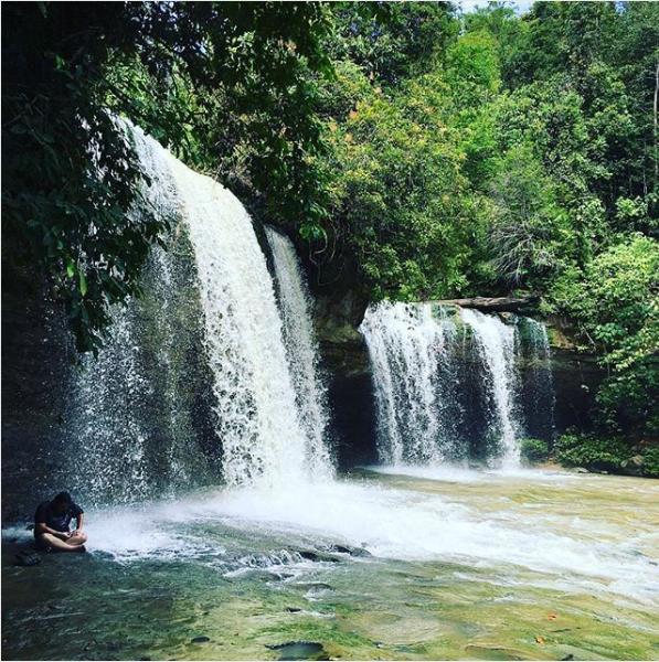 Giam Klimau waterfall in Sarawak, one of the most beautiful waterfalls in Malaysia
