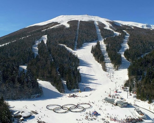 The majestic Bjelašnica Mountain during winter is one of the beautiful places in Bosnia