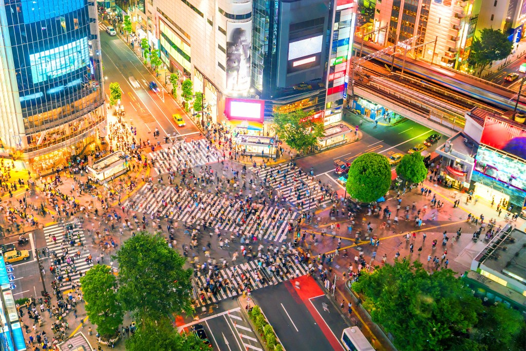 Shibuya Crossing is definitely an Instagrammable spot in Tokyo