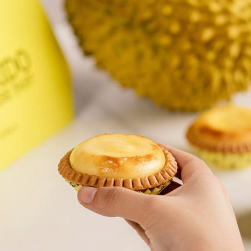 Durian tart can only be found during durian season.
