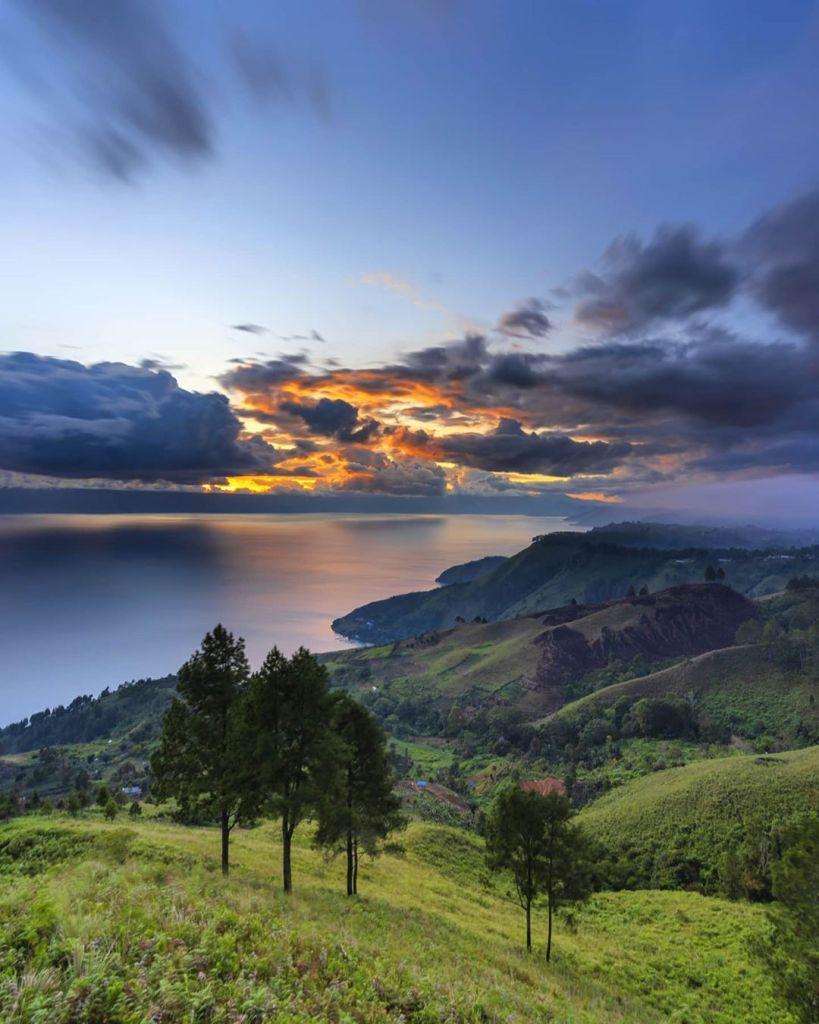 Lake Toba or Danau Toba is a large natural lake in Sumatra, Indonesia