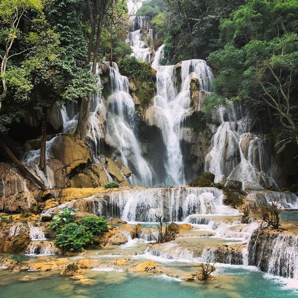 15 Incredible Things To Do And See In Laos For Muslim Travelers! Kuang Si Waterfall