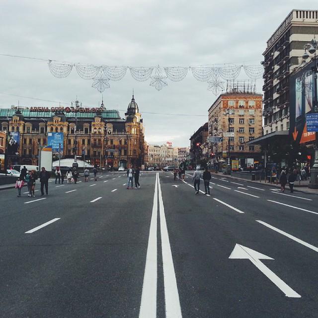 Jalan Khreschatyk  juga menempatkan bangunan-bangunan pentadbiran di bandar Kyiv