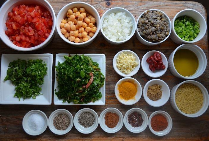 Ingredients needed to cook halal Moroccan food at Marrakesh restaurant in Adelaide