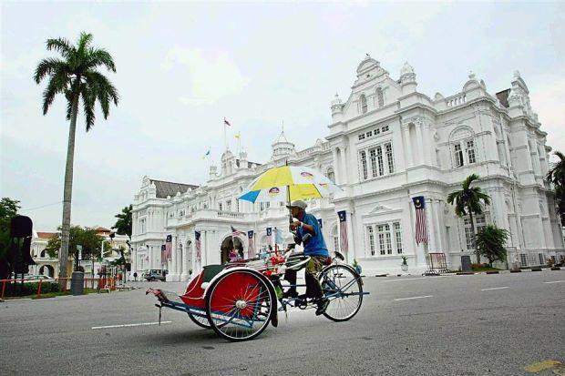 Trishaw ride at Penang