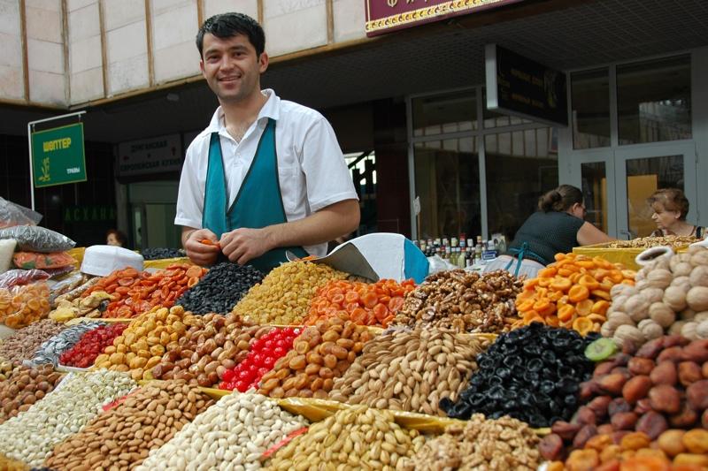What To Do In Almaty: Tasty bites in Green Market of Almaty