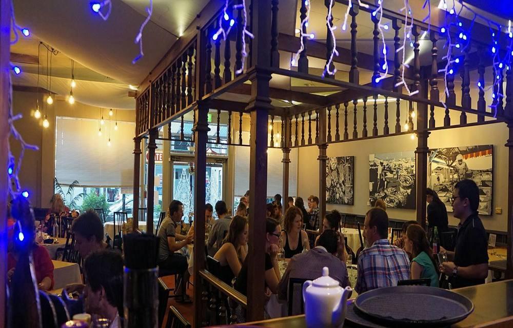 Interior of halal Indonesian restaurant in Adelaide Australia