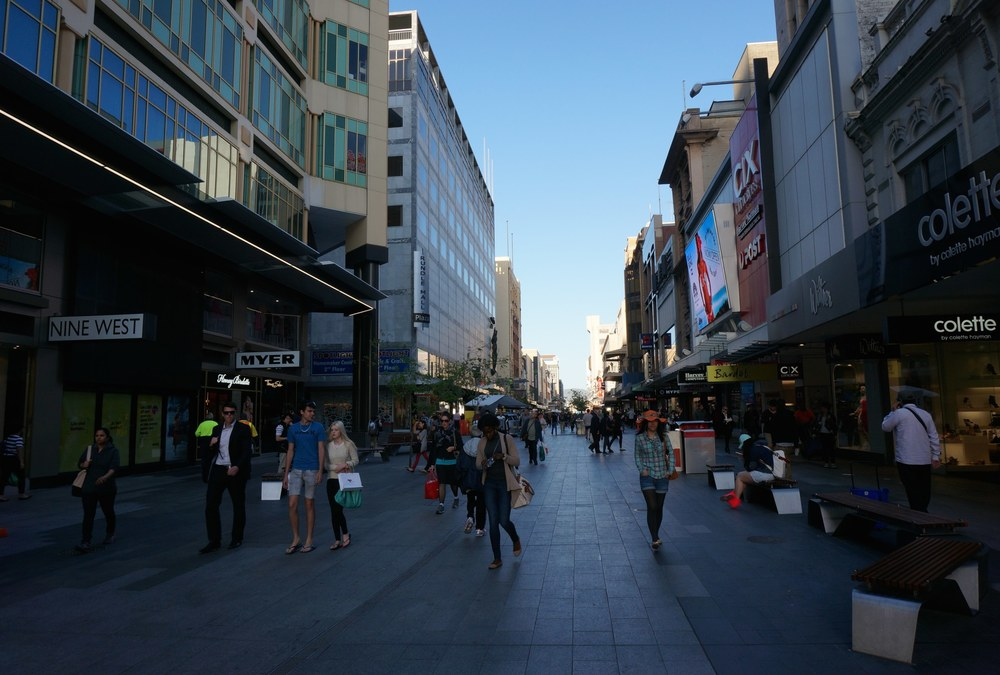 Rundle Mall is a must visit spot for retail therapy in Adelaide