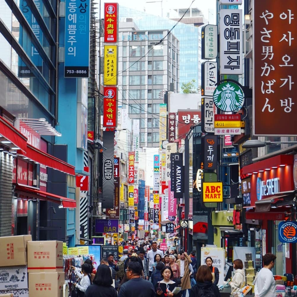 Best Things To Do In South Korea, myeondong