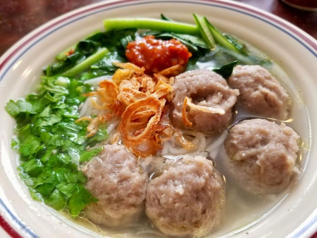 Bakso is apopular Indonesian street food