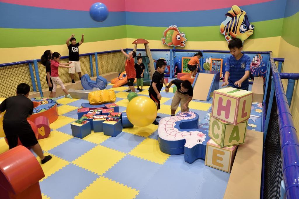 Kawasan permainan yang mesra untuk kanak-kanak berumur 12 tahun ke bawah