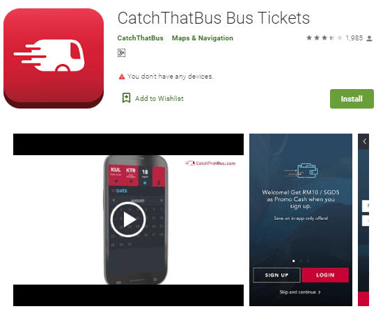 15 Must-Have Malaysia Travel Apps, Catchthatbus