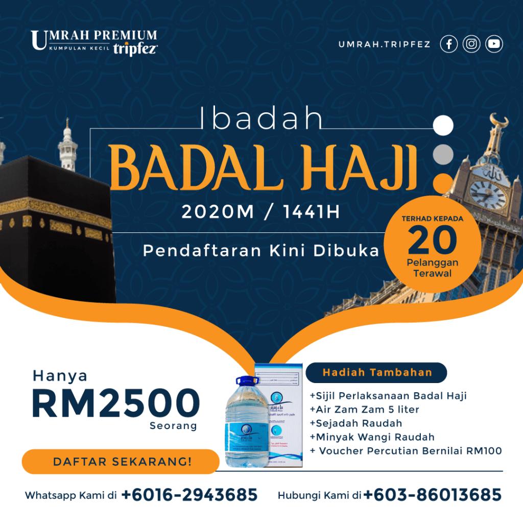Tempahan Badal Haji 2020