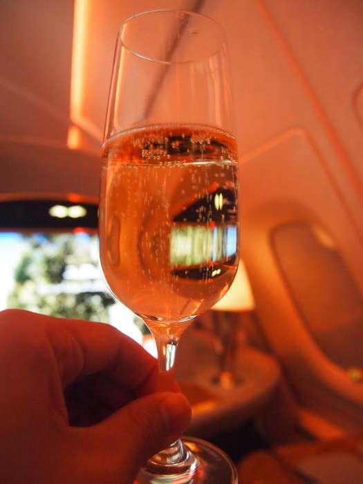 Welcome drink: Dom Perignon