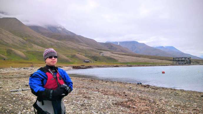 Prepared for kayaking within Arctic Circle