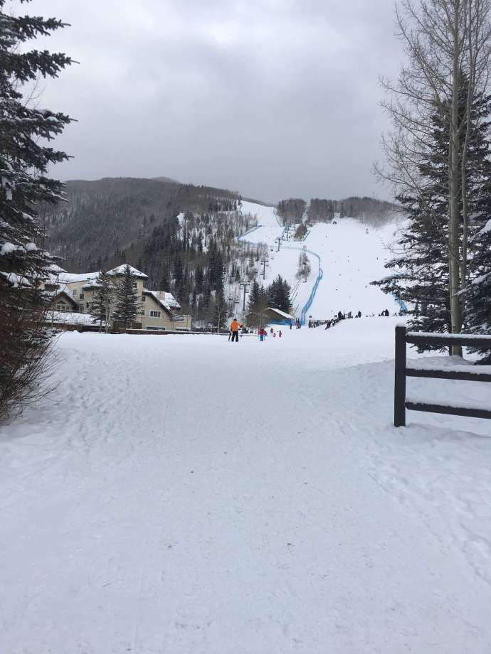 Vail 滑雪場,當天溫度下探0F