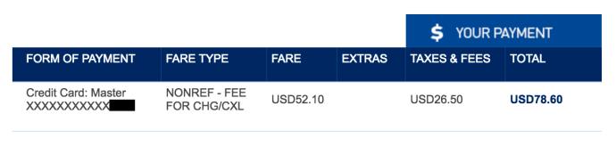 Jetblue ticket