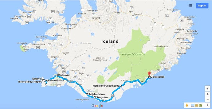 Iceland Map1