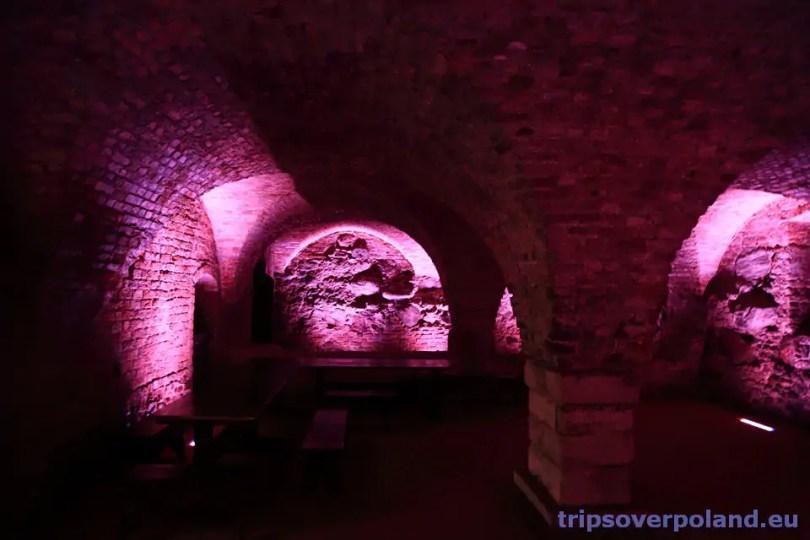 podziemia zamku krzyżackiego w Toruniu