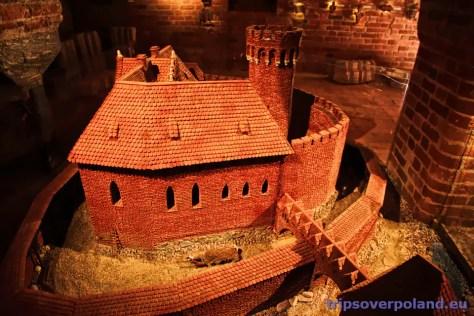 Toruń - model zamku krzyżackiego
