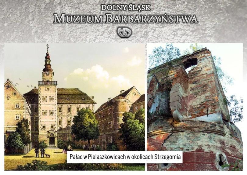 Pałac w Pielaszkowicach koło Strzegomia