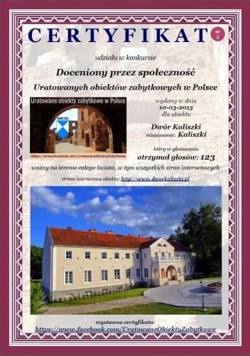 Dwór Kaliszki - http://www.dworkaliszki.pl