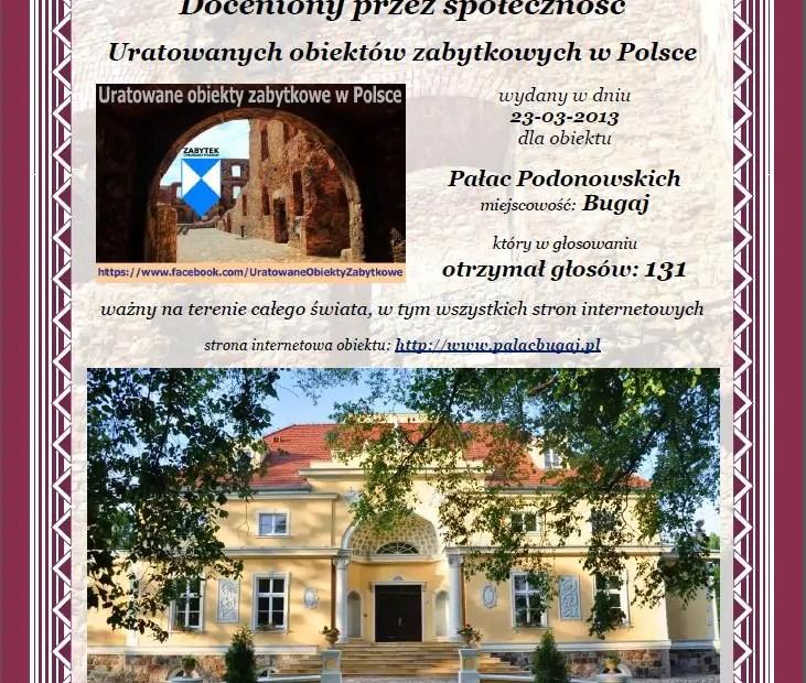 Pałac Podonowskich Bugaju - http://www.palacbugaj.pl