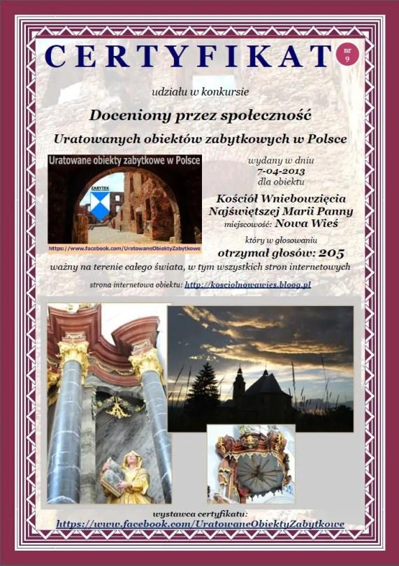 Kościół Wniebowzięcia Najświętszej Marii Panny w Nowej Wsi - http://kosciolnowawies.bloog.pl