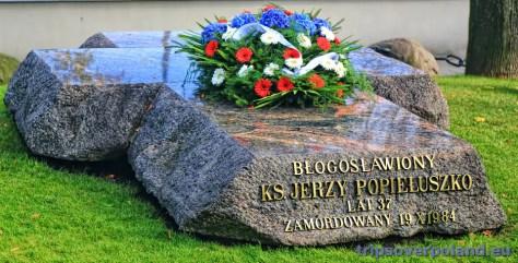 grób błogosławionego Jerzego Popiełuszki