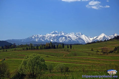 Sromowce Niżne - widok na Tatry