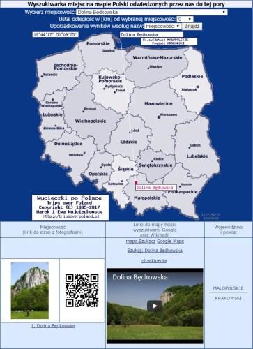 Mapa miejsc odwiedzonych