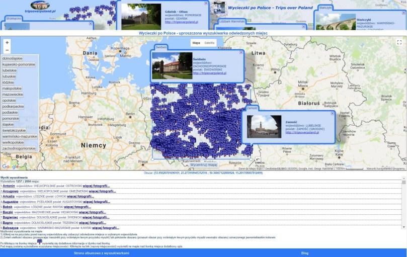 Wyszukiwarka uproszczona pełnoekranowa - wyszukiwanie obszarem prostokątnym
