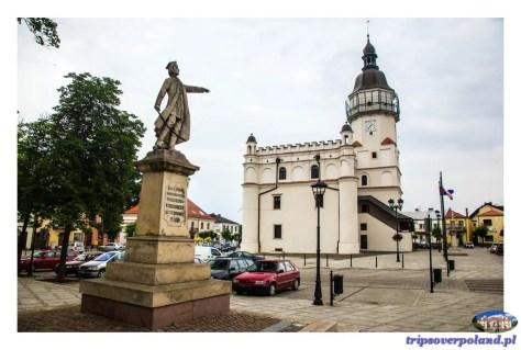Szydłowiec - pomnik Tadeusza Kościuszki: