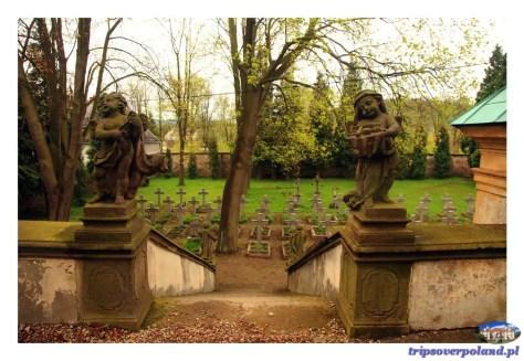 Cmentarz przed Mauzoleum Piastów