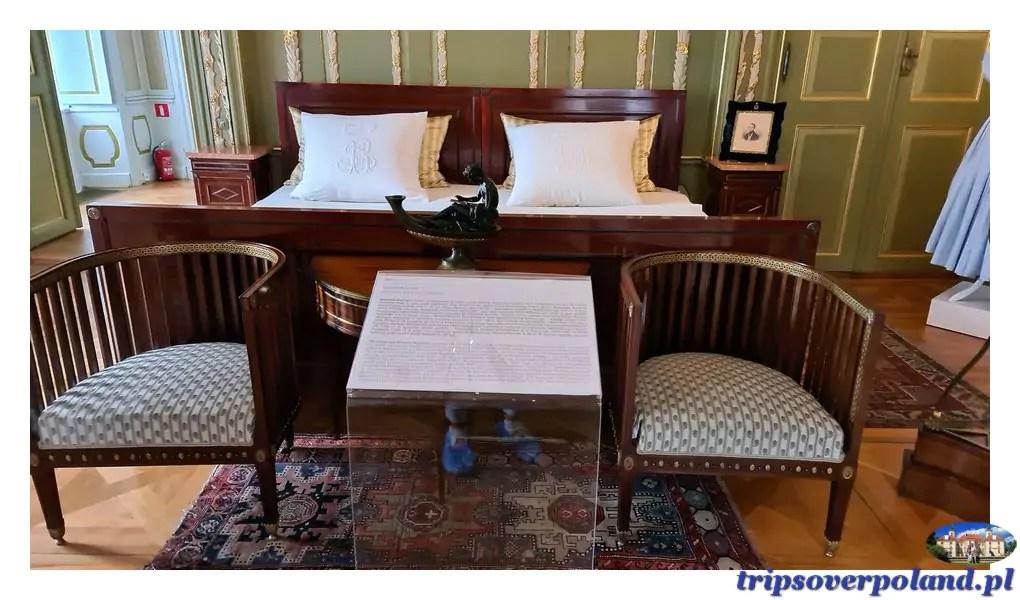 Pałac w Nieborowie'2021 - sypialnia Księstwa