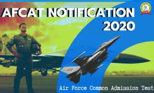 AFCAT 2020 Notification