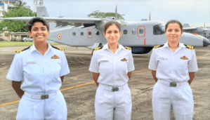Indian Navy Gets First Batch Of Women Pilots