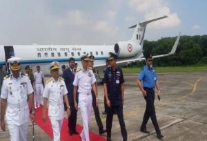 Navy Chief Admiral Karambir Singh Visit INS Baaz