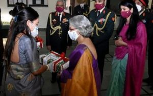 Army Chief MN Narwane's wife arrives in Nepal, presents gifts to wives of Gorkha soldiers
