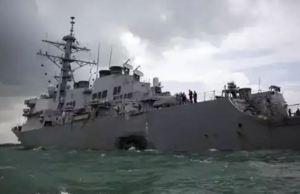 China army claims, US warship repulsed from South China Sea